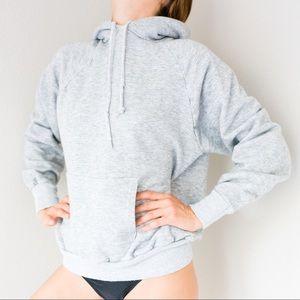 Vintage Classic Gray Sweatshirt Hoodie